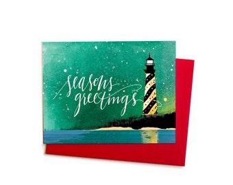 North Carolina Holiday Card, Cape Hatteras Season's Greetings Christmas Card