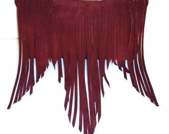 Bohemian Leather Fringe Bag