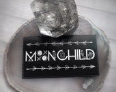 """MoonChild sticker, 3.5 x 2"""" Moon child, Moon, (business card size) DRY locations only"""