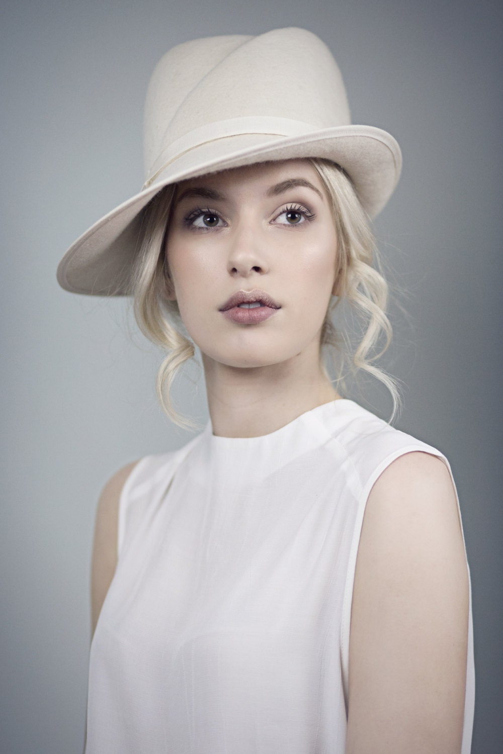 Off White Fedora Wedding Hat Elegant Winter by ...