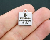 Friends Stainless Steel Charm - Friends are the Sunshine of Life - Exclusive Line - Quantity Options  - BFS595