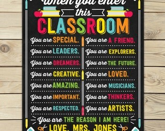 Classroom Decor - Classroom Sign - Classroom Printables - Classroom Poster - Personalized Teacher Sign - Classroom Rules - Teacher Gift
