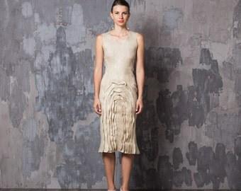 Prom Dress, Pencil Dress, Neutral Dress, Fitted Dress, Sleeveless Dress, Pattern Dress, Knee Length Dress, Chic Dress, Dinner Dress
