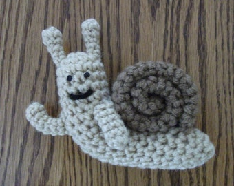 Crochet Waving Snail from Adventure Time, Made to Order