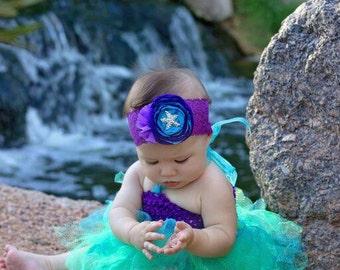 Mermaid Costume, Ariel Costume, Littler Mermaid Costume, Mermaid Halloween Costume, Baby Halloween Costume, Toddler Halloween Costume,