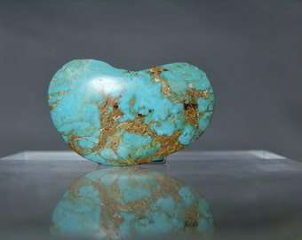 Lapidary Turquoise Supply Material 34.10 carat Loose Turquoise Cabochon Nevada Natural Free Form Not Stabilized Material DanPickedMinerals