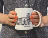 NYC Architecture Mug by Hello Small World, Coffee Cup, Tea, Mug, New York Mug, Architect Gift Mug