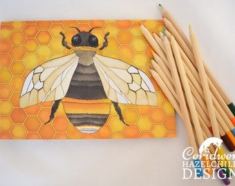 Bee Notebook, Journal, Note Pad, Blank Pages