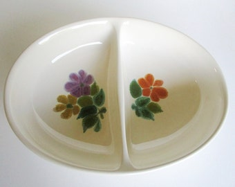 Franciscan Floral Earthenware Divided Serving Dish