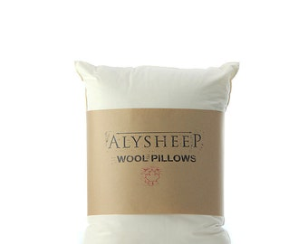 Standard Bed Pillow // Organic Wool Pillow // Handmade Wool Pillow // Standard Organic Pillow // Natural Standard Pillow