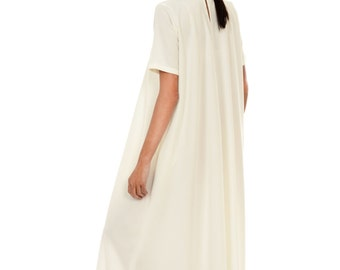 New  XXL,XXXL Maxi Dress / Off White Kaftan / Extravagant Long  Dress / Party Dress / Daywear Dress by AAKASHA A03137