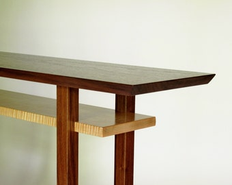 table walnut and maple handmade wood furniture custom tables