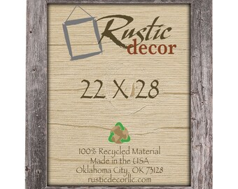 "22x28 Rustic Barn Wood 3.5"" Extra Wide Wall Frame"