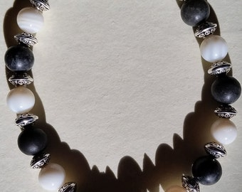 Fur the Love of Cats Series Bracelet- Gray & White Tabby/Cow Kitty
