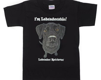 Kids Black Labrador Retriever Dog T-Shirt for Kids and Adults (PreSchool, Youth, and Adult Sizes Available)