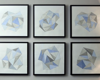 Geometric Watercolor Painting Collection