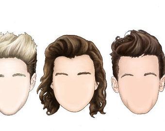 One Direction Minimalist Sticker