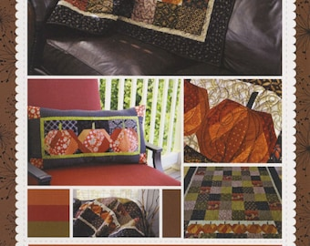 Pumpkin Quilt Pattern & Pillow Pattern, The Pumpkin Patch KD111 Kimberbell, Kim Christopherson