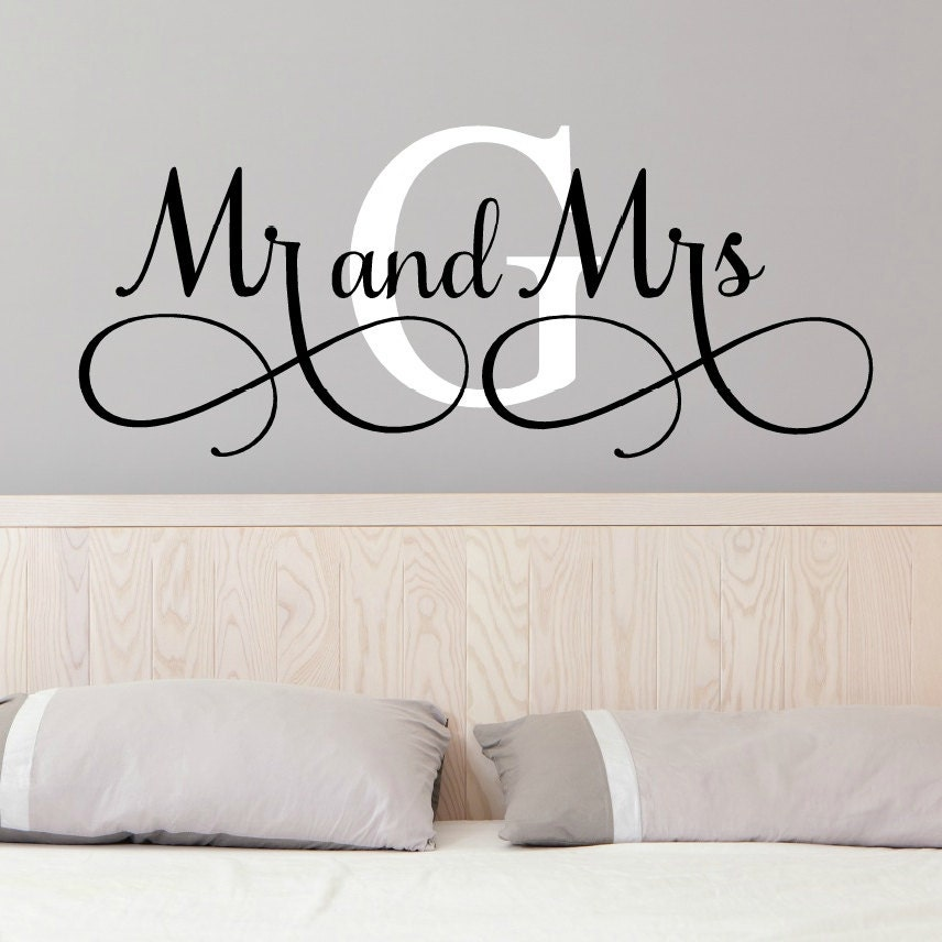 Mr And Mrs Wall Decals Mr And Mrs Stickers Newlywed Wall