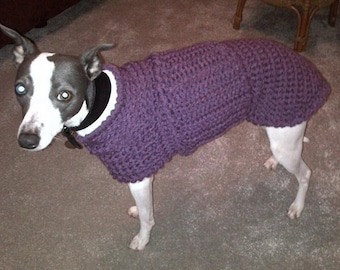 Whippet Sweater Whippet Clothing Whippet Jumper Whippet Coat Winter Dog Coat Dog Sweaters Crochet Dog Sweater Dog Clothes