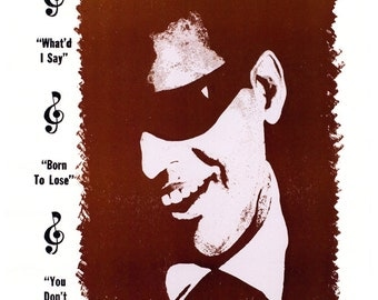 Ray Charles Concert Poster, featuring The Raelettes, August 16th, 1962, St. Louis, Missouri