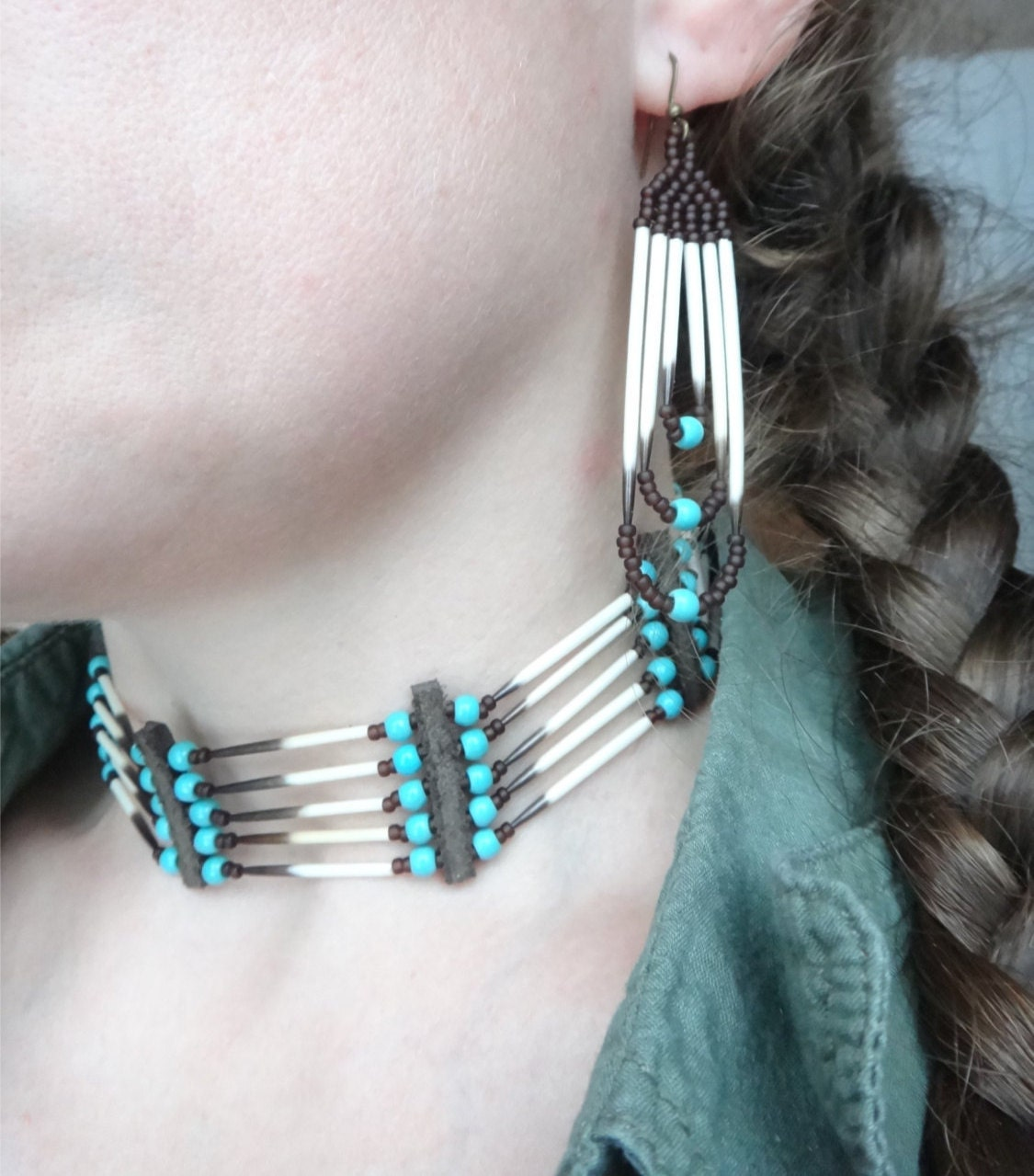 Porcupine Quill Jewelry Porcupine quills choke...