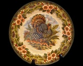 MULTI-COLOR TRANSFERWARE: Thanksgiving Queen's Myott Factory Porcelain Salad Plate, Replacement China