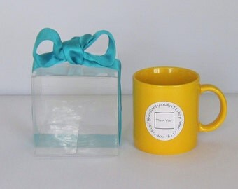 """Clear Boxes, 4x4x4"""" Favor Boxes, Gift Boxes, Treat Boxes, Mug Boxes, Ornament Boxes, Set of 10."""