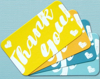 Thank You Gift Enclosure Mini Thank You Notes Set of 8