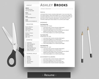 Nursing Resume | Etsy  Modern Resume Layout
