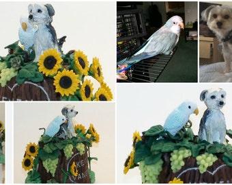 I Love My Pets Custom Made Sculpture