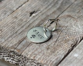 Dog or cat ID tag - Hand stamped round - small, medium or large