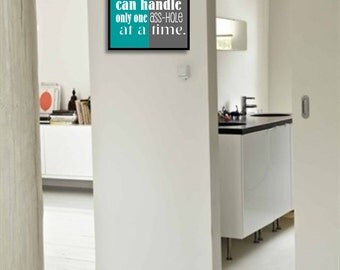 Funny bathroom art sign bathroom wall decor bathroom quote for Bathroom funny videos