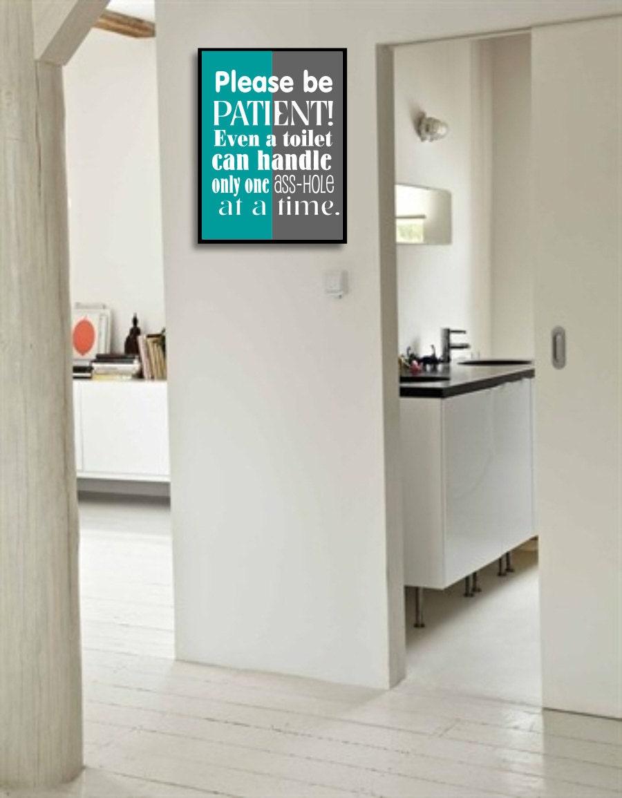Printable Funny Bathroom Art Sign Bathroom wall decor