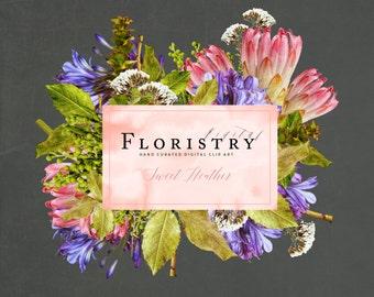 Digital Flower Clip Art - Sweet Heather
