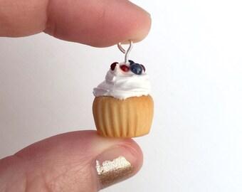 Cupcake Necklace Pendant - Sculpey