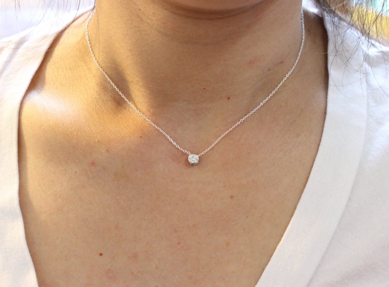 Thin Diamond Necklace