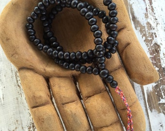 108 Mala Beads / Natural Wood Mala Beads / Prayer Beads / Meditation Beads / Mala Beads