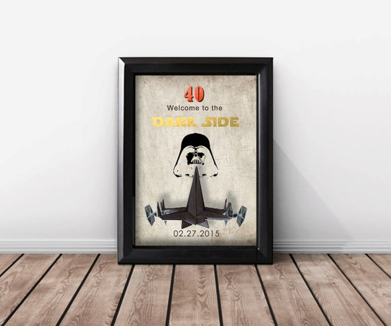 Star Wars 40th Birthday Gift For Women And Men. 50th Birthday