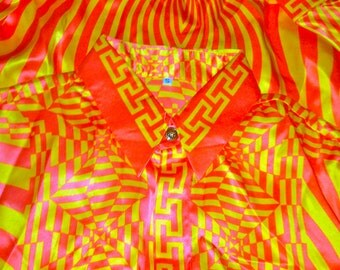 Vintage Gianni Versace silk shirt, Istante by Versace silk shirt, vintage istante silk shirt, Versace silk shirt for men, vintage Versace