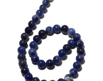 Natural Sodalite Beads, Sodalite Round Beads, 6mm Beads, 15 Inch Strand, SKU-MM25/3