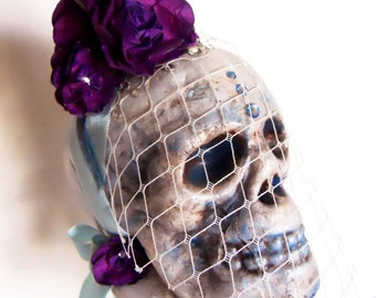 Skull bride Halloween Art based on La Llorona story Day of the Dead Steampunk Victorian gothic altered art - From her watery grave she walks