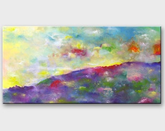Mountain painting original Peinture abstraite montagne Acrylic painting - abstract mountain canvas art - mountains paintings - mountain art