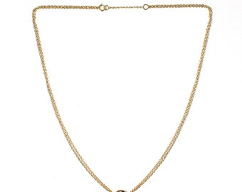 14k Gold Necklace Pendant, Eternity Circle, Gold Pendant Necklace, Gold Necklace, 14K Gold Jewelry, Dainty Gold Chain, Valentine's Day, N257