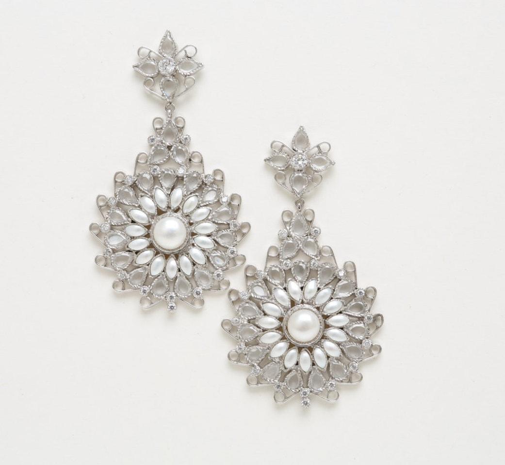 statement earrings chandelier earrings vintage by