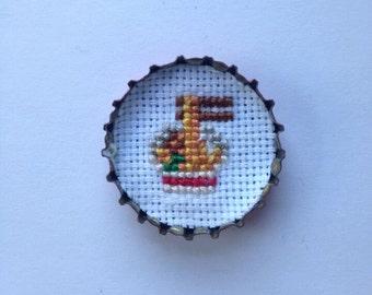 ramen bottle cap pin