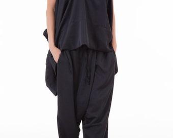 Plus Size Pants, Black Womens Pants, Boho Pants, Black Yoga Pants, Baggy Pants, Black Harem Pants, Womens Black Pants, High Waisted Pants