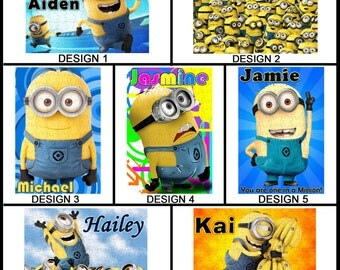 Personalised Minions Jigsaw Puzzle - 120pc - With any Name or Message - Gift Idea - Minion