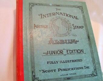 International Postage Stamps Album Junior Edition 1939 Fully Illustrated Scott Publications Inc