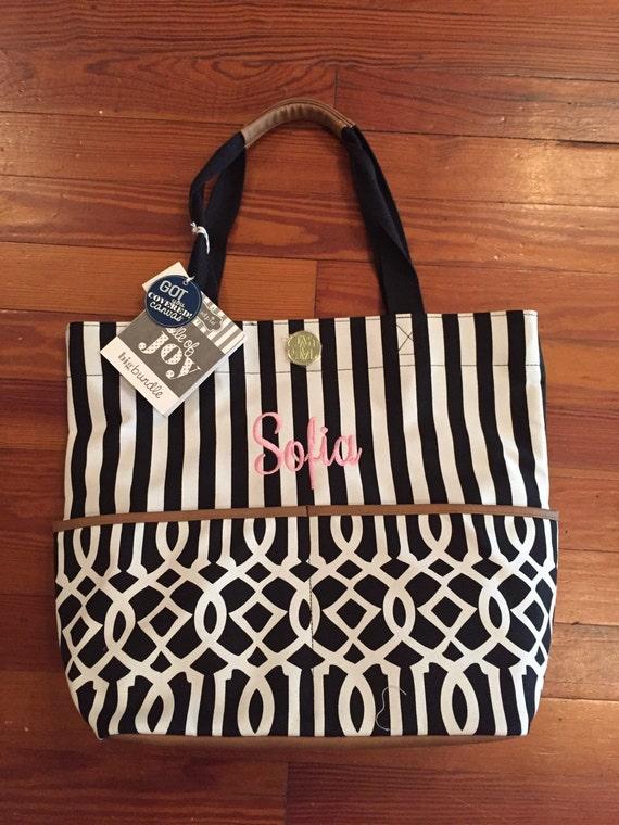 mud pie monogram personalized baby diaper bag by dixielaneboutique. Black Bedroom Furniture Sets. Home Design Ideas